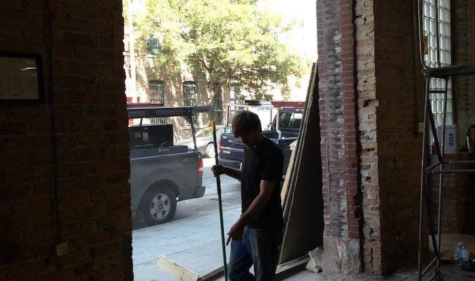 Commercial-Glass-Overhead-Door-Project-Before-2