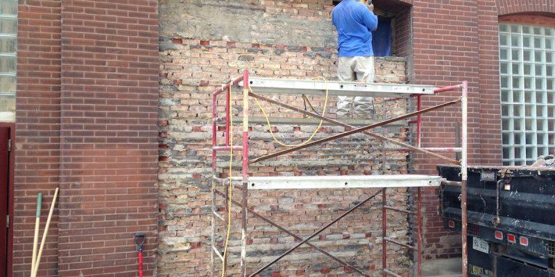Commercial-Glass-Overhead-Door-Project-Before