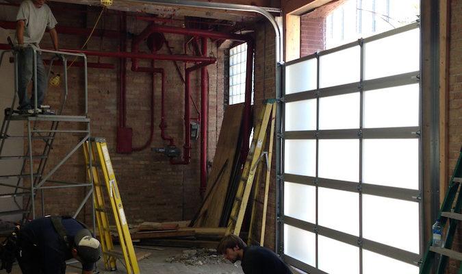 Commercial-Glass-Overhead-Door-Project-During
