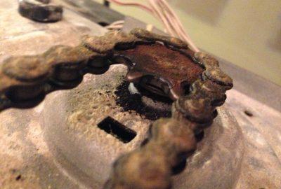 Residential-Garage-Door-Operator-With-Broken-Gears