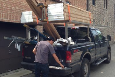 Truck-Loaded-With-Residential-Garage-Doors